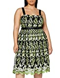 Gina Bacconi Women's Eden Embroidered Dress Vestido de cctel, Multicolor, 38 para Mujer
