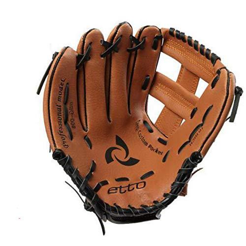 Qualität PVC 10/11 Zoll Männer Professionelle Baseballhandschuh Rechts/Links-Hand Softball Trainingshandschuh für Kinder Für Spiel,Righthand,11inches