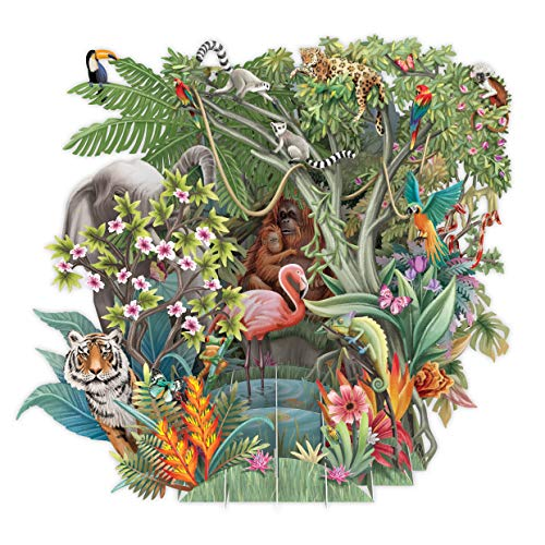 The Jungle Top of The World Pop Up 3D Greetings Card