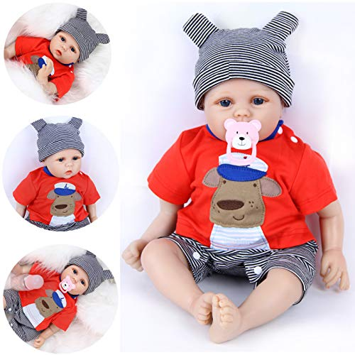 ZIYIUI Bambole Reborn 18 Pollici 45 cm Reborn Bambola Femmina in Silicone Morbido Vinile Giocattolo Ragazze Fatto a Mano Bambola Reborn Toddler Regali di Natale