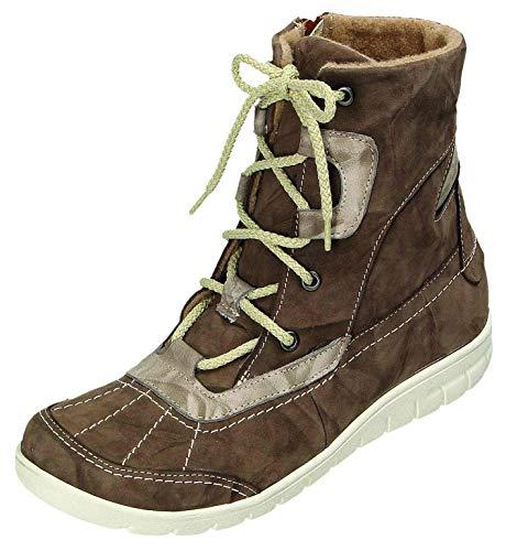 MICCOS Shoes Stiefel D.Schnürstfl in Moro/Komb, Größe 37.0,