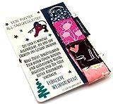 Lieblingsmanufaktur farbenfroher Schlüsselanhänger mit Karte als persönliches Geschenk zu Weihnachten für Erzieherin, Tagesmutter Kindergärtnerin – Geschenkidee zum Freude schenken