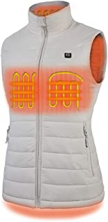 [2019 Upgrade] Women`s Heated Vest with Battery Pack, YKK Zippers and Water&Wind Resistant