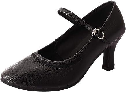 5e85b43cede20 Sunhusing Stylish Elastic Modern Dance Shoes Womens High Heel Ballroom  Dance Shoes Soft Bottom Waltz Dance Shoes