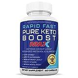 Rapid Fast Pure Keto Boost Max 1200MG Keto Pills Advanced BHB Ketogenic Supplement Exogenous Ketones Ketosis for Men Women 60 Capsules 1 Bottle