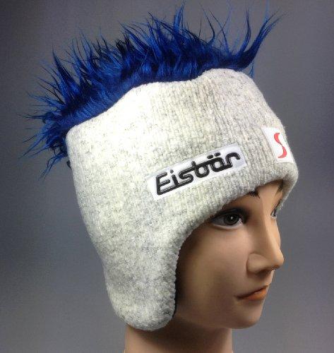 Original Eisbär Mütze Cocker SP, hellgrau/blaue Haare