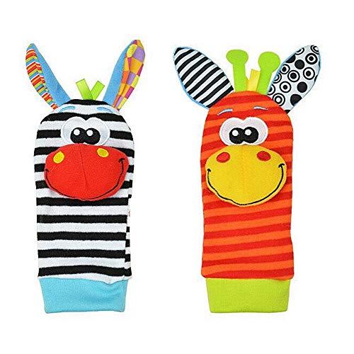 Weiche Socken Rassel, Lanking Baby Infant Stofftier für Kinder Bestes Geschenk Infant Stofftier (2 Stücke Zufällig)