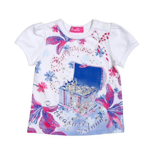 Pampolina - Camiseta de Manga Corta con Cuello Redondo para bebé, Color Blanco 1000, Talla 12 Meses (80 cm)
