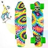 YXF 22 Zoll Mini-Skateboards für Kinder Outdoor Sport Rutschfestes Cruiser-Board für Kinder ab 12 Jahren Anfänger-Skateboard