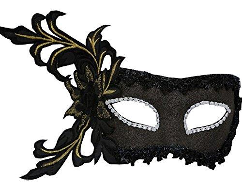 Blancho Broderie Fleur Masque fête d'halloween Masque Mascarade Masque Masque de Cosplay