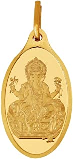 Kundan Ganesha 24k(999.9) Yellow 2.7 gm Gold Pendant