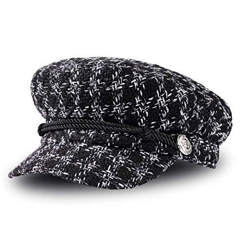 Boinas para Mujer Vintage Sombreros de Pata de Gallo Clásico Gorra Caliente...