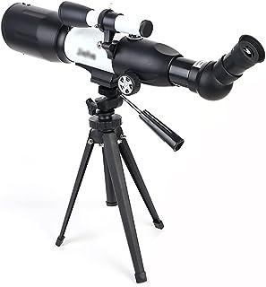 المنكسرون فتحة 50MM 50MM و 350mm البؤري طول ترايبود مستقرة و HD مشاهدة التلسكوب الفلكي مع نطاق مكتشف المنكسرون