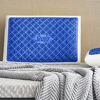 Sealy BLUE Chill Gel Memory Foam Pillow Standard White