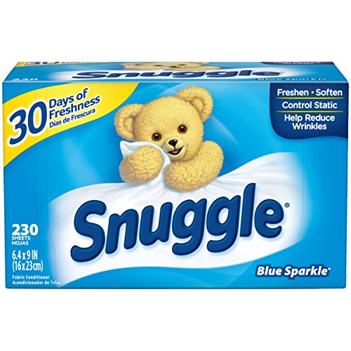 Snuggle Fabric Softener Dryer Sheets, Blue Sparkle, 230 Count Now $4.98