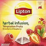 Lipton Pirámide Infusión Temptation de Frambuesas y Fresas - 20 bolsitas