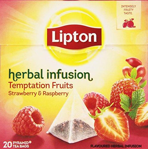 Lipton Piramide Infusion Temptation de Frambuesas y Fresas - 20 bolsitas