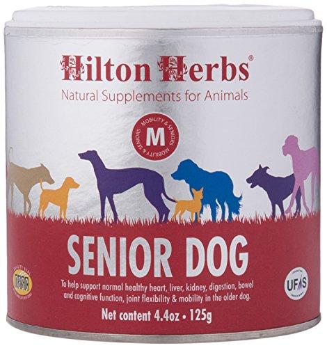 Hilton Herbs Complément Alimentaire Senior Dog pour Chien Âgé Boîte de 125 g