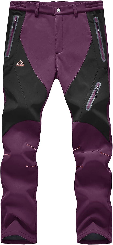 Super special price BGOWATU Women's Waterproof Windproof Ski Fleece Popular Lined Pants Snow