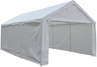 Abba Patio Extra Large Heavy Duty Carport with Removable Sidewalls Portable Garage Car Canopy Boat Shelter Tent for Party,...