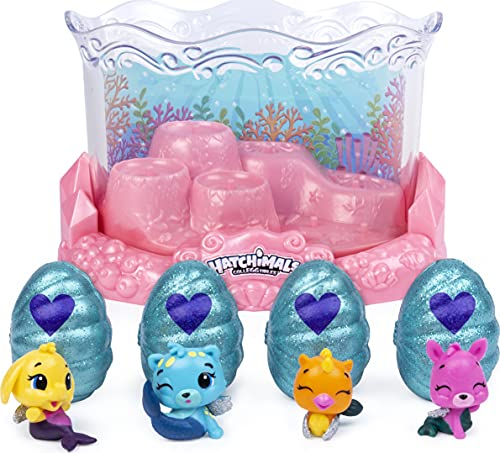 Hatchimals CollEGGtibles, Mermal Magic Underwater Aquarium with 8 Exclusive, for Kids Aged 5 and Up, Amazon Exclusive