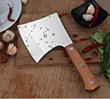 Bone Cutting Knife, Meat Cleaver Heavy Duty,Stainless Steel Bone Chopping Knife Cleaver,Chinese Style Chef Bone Knife Butcher Knife with Solid Wood Handle, Multipurpose Use for Home Kitchen