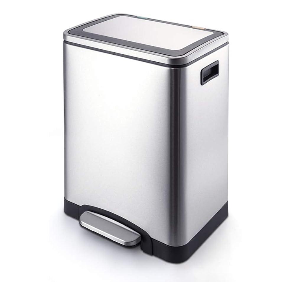 しおれたフィヨルドオアシスHOHO 取り外し可能なインナーバケット付きステンレススチールゴミ箱ゴミ箱、蓋付きホテルウェアゴミ箱、家庭用またはオフィス用の防水ペダルビン、防錆、ステンレスゴミ箱