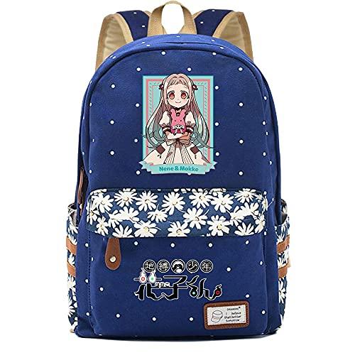 SHU-B Mochila para Chicas, Toilet-Bound Hanako-kun Moda Impreso Universidad Bolsas Estudiante Escuela Mochila Laptop Viajes Bolsa Daypack