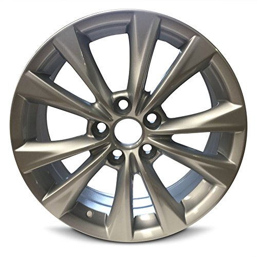 Road Ready Car Wheel For 2015-2017 Toyota Camry 17 Inch 5 Lug Silver Aluminum Rim Fits R17 Tire - Exact OEM Replacement - Full-Size Spare