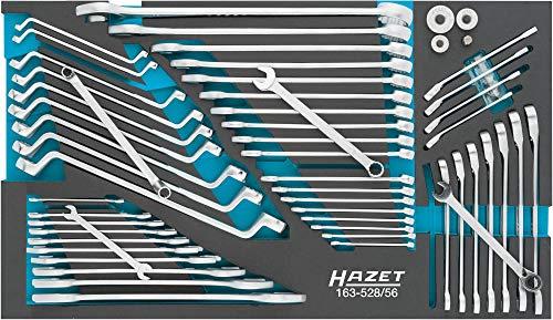 Hazet 163-528/56 - Juego de llaves inglesas (56 piezas, perfil hexagonal exterior, perfil de tracción)