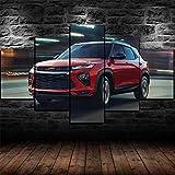 45Tdfc 5 Piezas Red Chevrol Trailblazer RS SUV Car Panel Wall Art Print Lienzo Arte de la Pared Cuadro Pintura Adolescentes Decoración de la habitación Lienzos Carteles de impresión Regalo,B,150x80cm