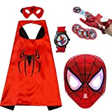 WSJDPP Spidermans Launcher Handschuhe Umhang leuchtende Maske Halloween Kinder Cartoon Spielzeug...