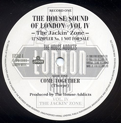 "The House Sound Of London - Vol. IV -The Jackin' Zone (12"" Sampler No.1)"