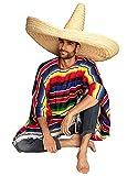 Boland 95472 - Sombrero Zapata, Größe ca. 100 cm, Naturfarben, Mexico, Fiesta, Riesen Sombrero,...