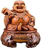 Feng Shui Resina Estatua de Buda Laughing Buddha Maitreya Adorno de Dios Buda de la Riqueza Figura E...