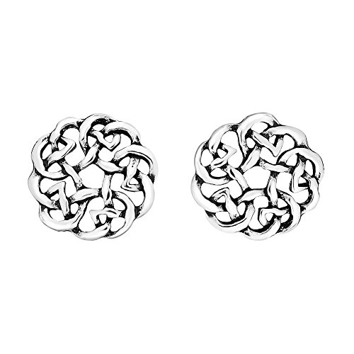 Continuity Celtic Knot Donut .925 Sterling Silver Stud Earrings