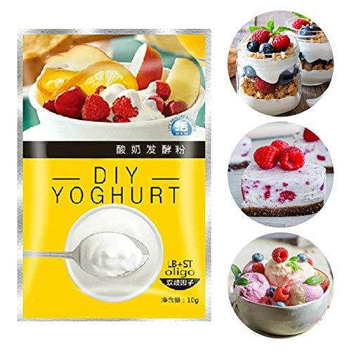 iBellete Levadura de Yogurt, 10 Bolsas Activador Activo de levadura Seca Interacción Padre-Hijo Yogurt Making Power Levadura nutricional Suministros de Cocina para Todos