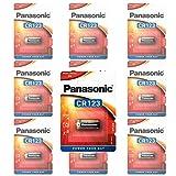 Panasonic CR123A Photo Power Lithium Batterie 10-Pack, 1450mAh