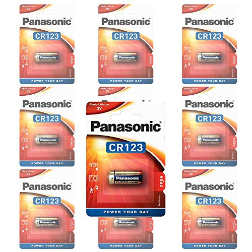 Panasonic CR123A Photo Power Lithium Batterie 10-Pack, 1450mAh