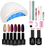 Beetles Full Maroon Gel Nail Polish Starter Kit with 48W UV/LED Light Nail - Best Reviews Guide
