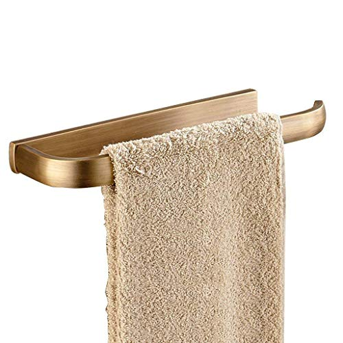 WEM Hogar, estante del baño del hotel, anillo de toalla creativo europeo de cobre Barra de toalla vintage Perchero de oro rosa dorado Colgante de hardware de cobre puro antiguo