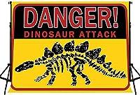 HD 7x5ft漫画恐竜背景おもしろい恐竜パーティー写真背景写真撮影パーティー子供ベビーシャワーバナーBJLHFH186