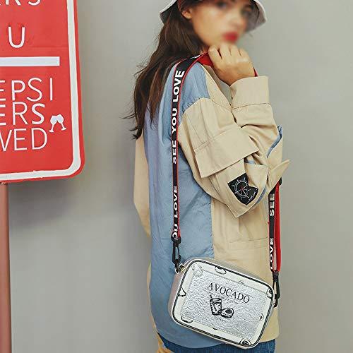 DS- Umhängetasche Umhängetasche - Laser Special Material/PU/Polyester Baumwolle, Mode Persönlichkeit Mädchen Explosion Schulter Stereo Illustration Breitband Crossbody Kleine Square Bag - 2 Farben
