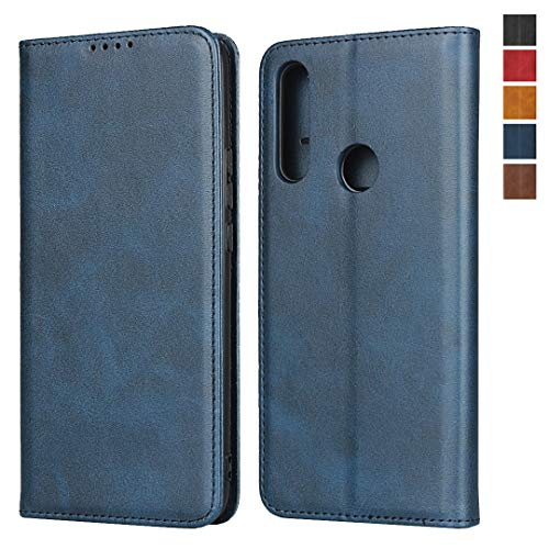 Huawei P Smart Z Wallet Case,Jaorty Premium PU Leather Flip Folio Case with Card Slot,Stand Holder Magnetic Closure TPU Shockproof Interior Protective Case for Huawei P Smart Z/Y9 Prime 2019,Navy Blue