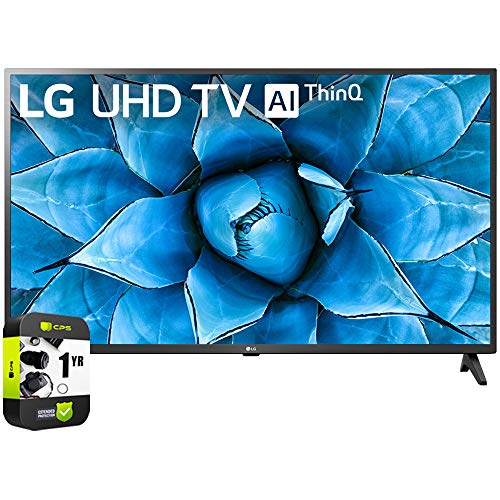 LG 43UN7300PUF 43 inch UHD 4K HDR AI Smart TV 2020 Model Bundle with 1 Year Extended Protection Plan