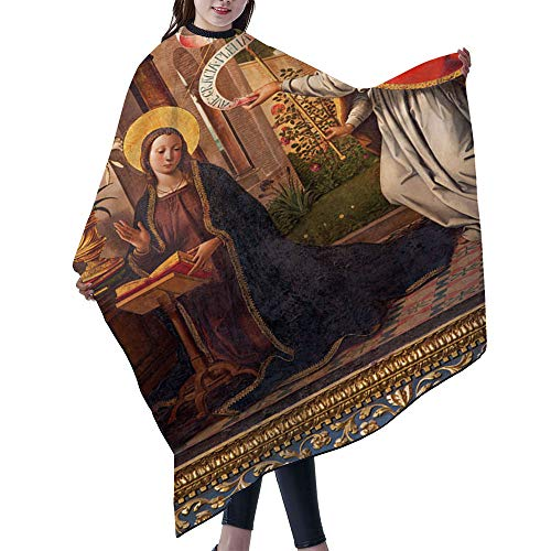 "SUPNON Professional Salon Cape Polyester Cape Hair Cutting Cape, Water And Stain Resistant Apron, 55""x66"", Avila The Paintig Of The Annunciation, IS001577"