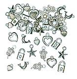 Silberfarbene Schmuckanhänger für Kinder zum Basteln toller Accessoires