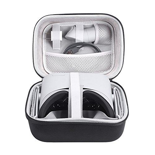 Esimen Hard Case for Oculus Go VR Virtual Reality Headset and Controllers Accessories Carry Bag Protective Storage Box (Black+Gray)