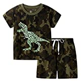 BIBNice Toddler Boy Clothes Kids Summer Cotton Outfits Little Boys Clothing Sets Camouflage Size 6T