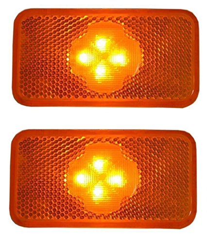 2x LED orange speziell FH FM FL LKW Seitenmarker OEM 20398660 20798440